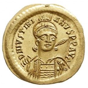 Justynian I 527-565, solidus 527-528, Konstantynopol, A...