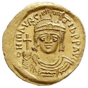 Maurycy Tyberiusz 582-602, solidus 583-601, Konstantyno...