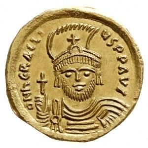 Herakliusz 610-641, solidus 610-613, Konstantynopol, Aw...