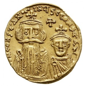 Konstans II i Konstantyn IV 641-668, solidus 654-659, K...