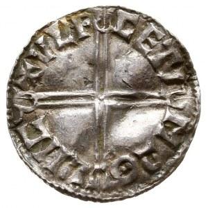 Aethelred II 978-1016, denar, Lincoln, mincerz Ulfcetel...