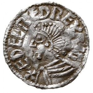 Aethelred II 978-1016, denar, mennica Londyn, mincerz L...