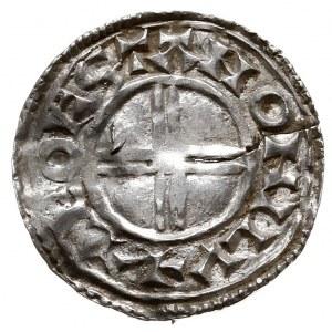 Knut 1016-1035, denar, mennica Londyn, mincerz Leofstan...