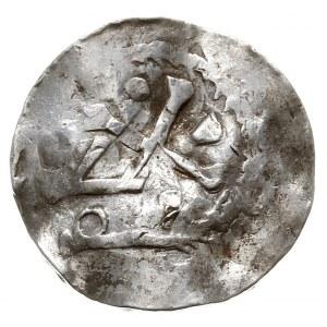 Bolesław II 972-999, denar, Aw: Krzyż, w polach 3 kulki...