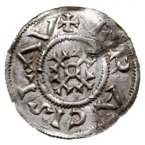 Brzetysław I 1037-1055, denar przed ok. 1050, Aw: Krzyż...