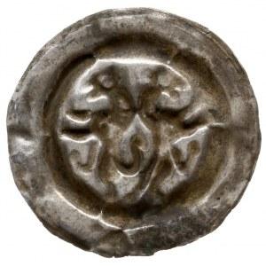 Morawy, Przemysł II 1253-1278, brakteat, Dwa stojące lw...