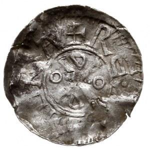Goslar, Otto III 983-1002, denar ok. 1.000 r., Aw: Głow...