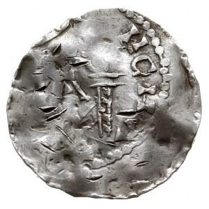 Moguncja /Mainz/, Henryk II 1002-1024, denar, Aw: Popie...