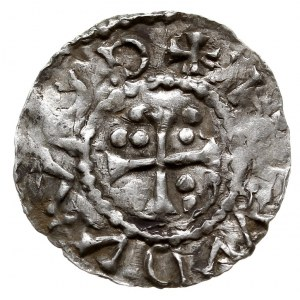 Nabburg, Henryk II 955-976, denar 973-976, Aw: Dach koś...