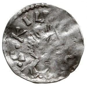 Würzburg, Otto III 983-1002, denar, Aw: Popiersie św. K...