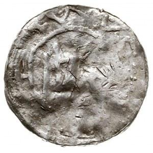 Anonimowe naśladownictwo denara saskiego, Aw: Kapliczka...