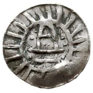 Naśladownictwo denara typu goslarskiego, Aw: Krzyż, w o...