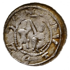 Władysław II Wygnaniec 1138-1146, denar, Aw: Książę na ...
