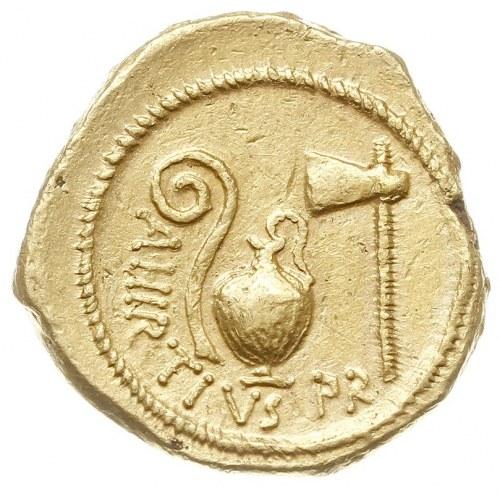 aureus, Rzym, Aw: Głowa kobiety w chuście w prawo, woko...