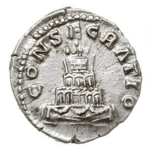 denar pośmiertny, 161, Rzym, Aw: Popiersie cesarza w pr...