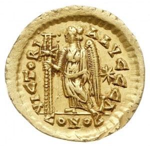 solidus 462-468, Konstantynopol, oficyna Δ, Aw: Popiers...