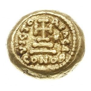 solidus (tremissis) 641-647, Kartagina, Aw: Popiersie c...