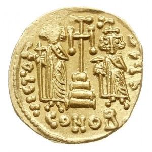 solidus 674-681, Konstantynopol, Aw: Popiersie Konstant...