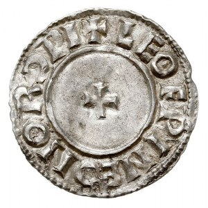 denar, typ Small Cross, mennica Norwich, mincerz Leofwi...