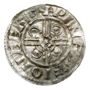 denar, typ Pointed Helmet, mennica Canterbury, mincerz ...