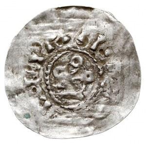 denar, Aw: Kółka ułożone w figurę krzyża, Rw: Krzyż, sr...
