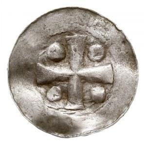 denar typu OAP, Aw: Kapliczka, Rw: Krzyż i kulki, srebr...