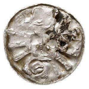 denar krzyżowy, po 995 r, Magdeburg?, Aw: Słabo widoczn...