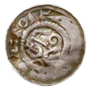denar krzyżowy (typu deventerskiego), I poł. XI w. Aw: ...
