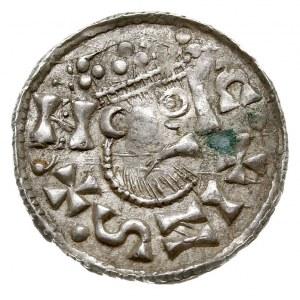 denar 1009-1024, Aw: Popiersie w prawo C+INS+N, Rw: Krz...