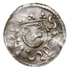 denar 1009-1024, Aw: Popiersie w prawo, napis wokoło, R...