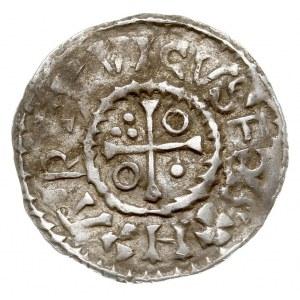 denar, Aw: Popiersie w prawo, napis wokoło, Rw: Krzyż, ...