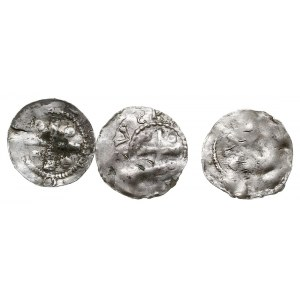 Frankonia, Otto I lub Otto II, zestaw denarów, Kapliczk...