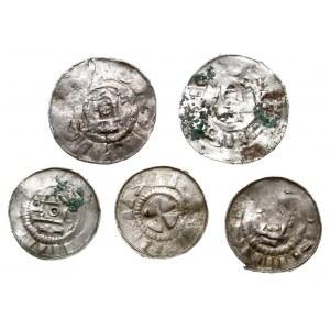 Saksonia, zestaw denarów krzyżowych i naśladownictw, Ka...