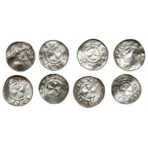 Saksonia, zestaw denarów krzyżowych i naśladownictw, Kr...