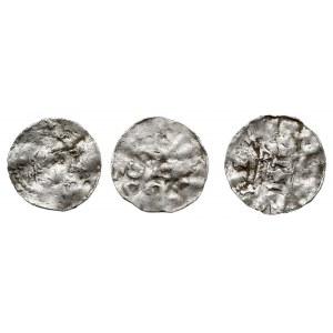 zestaw denarów z XI w. z czasów Konrada II i Henryka II...