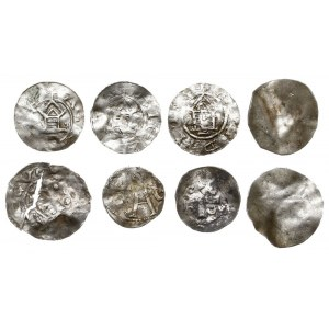 zestaw denarów z XI w. lub naśladownictw, m.in. Arcybis...