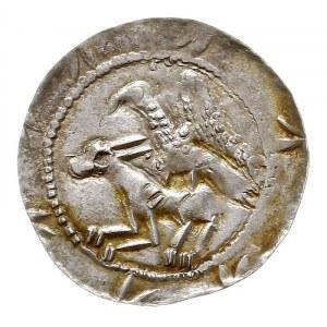 denar, Aw: Rycerz z mieczem nad jeńcem, Rw: Orzeł chwyt...