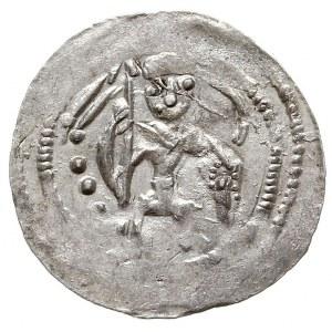 denar, 1146-1157, Aw: Dwaj książęta, Rw: Rycerz stojący...