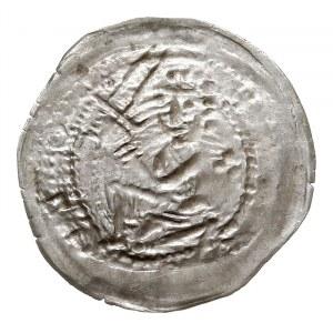 denar jednostronny z lat 1239-1249, mennica Gniezna; Ry...