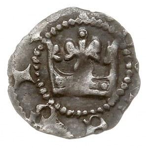 denar, Aw: Korona w perełkowym otoku, wokoło fragment n...