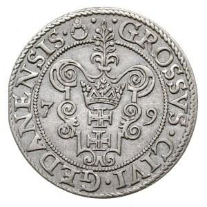 grosz 1579, Gdańsk, odmiana z gwiazdką na końcu napisu