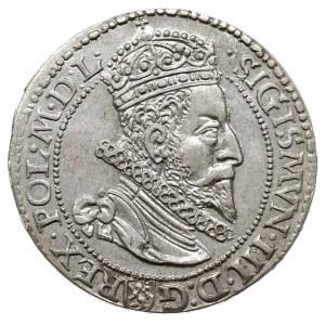 szóstak 1599, Malbork, odmiana z małą głową króla, pięk...