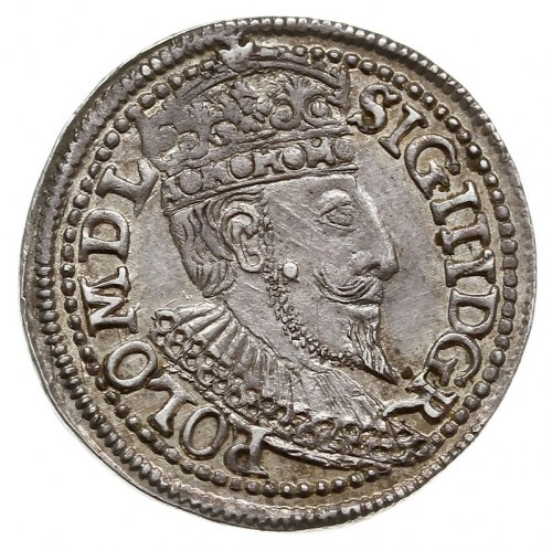 trojak 1596, Olkusz, Iger O.96.1.a, bardzo ładny, delik...