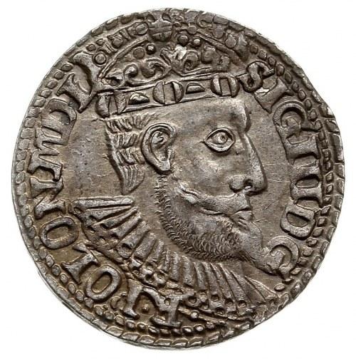 trojak 1599, Olkusz, Iger O.99.1.f, bardzo ładny, patyn...