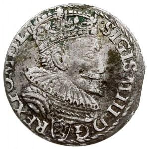 trojak 1594, Malbork, pierścień poniędzy końcówką daty,...