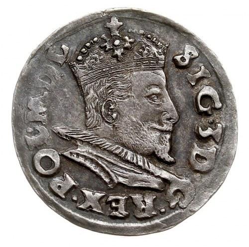 trojak 1596, Lublin, Iger L.96.2.a (R), ładny, ciemna p...
