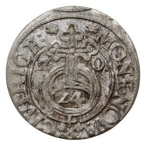 półtorak 1620, Ryga, odmiana bez znaku Lis (Ottona von ...