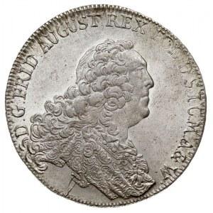 talar 1763, Drezno, Aw: Popiersie i napis wokoło, Rw: T...