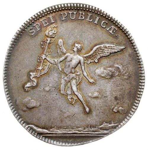 2/3 talara (gulden) zaślubinowe 1747, Drezno, Aw: Napis...