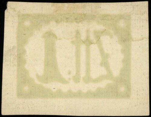 papier ze znakiem zabezpieczającym banknotu 1 złoty pol...